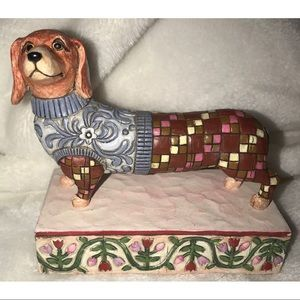 Heartwood Creek Jim Shore Longfellow Dachshund Dog